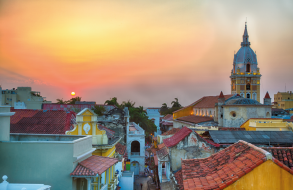 Rooftop views from a town in Latin America